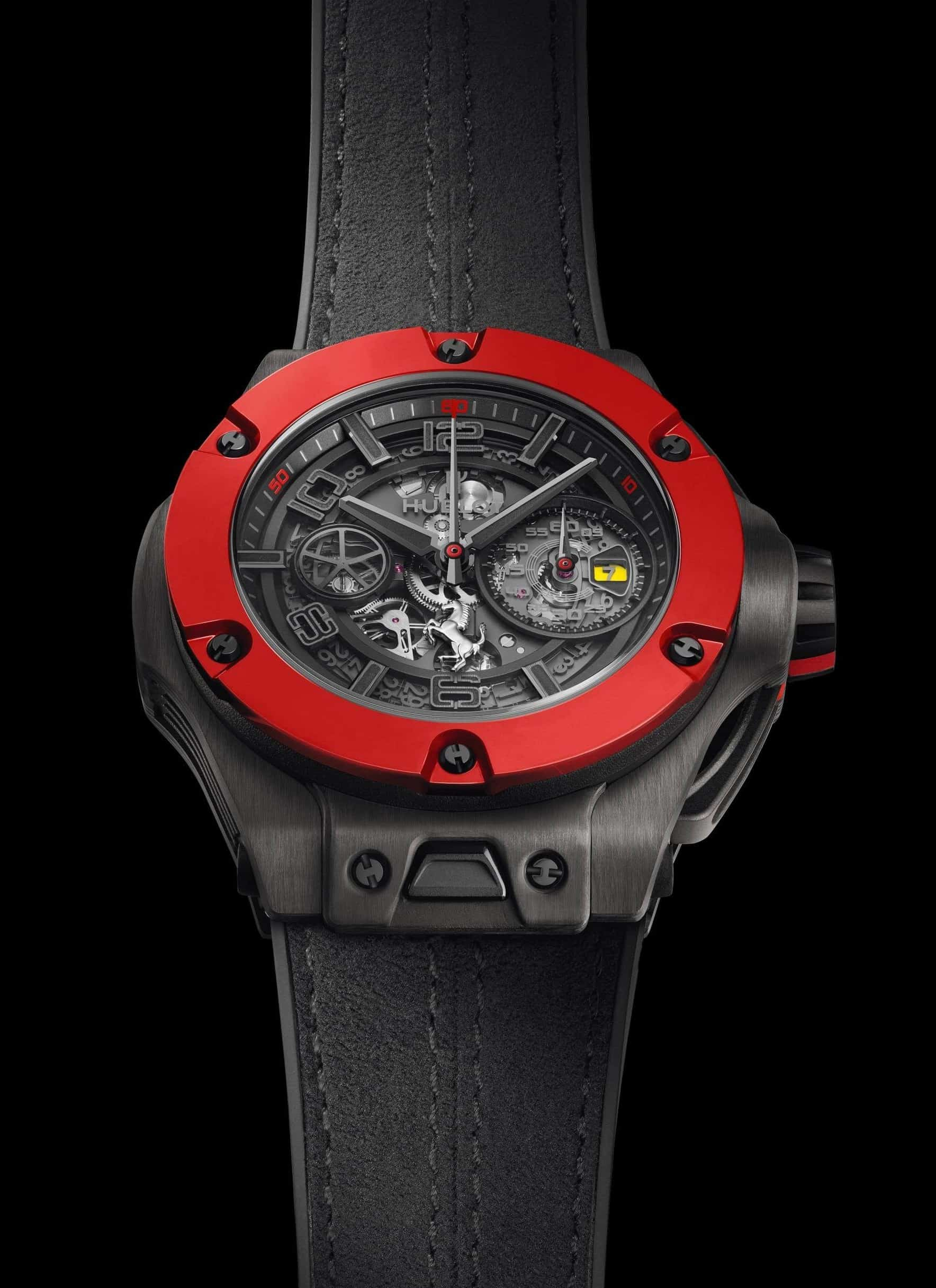 Ein Formel 1 Chronograph im besten Ferrari-Rot - die Hublot Big Bang Ferrari Unico Carbon in 45 mm