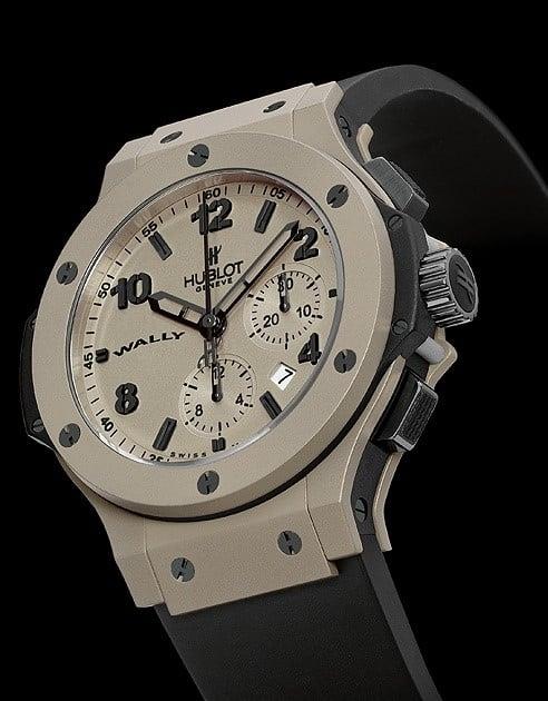 Ein Uhrengehäuse aus Aluminium hat die Hublot Big Bang Wally Hublonium