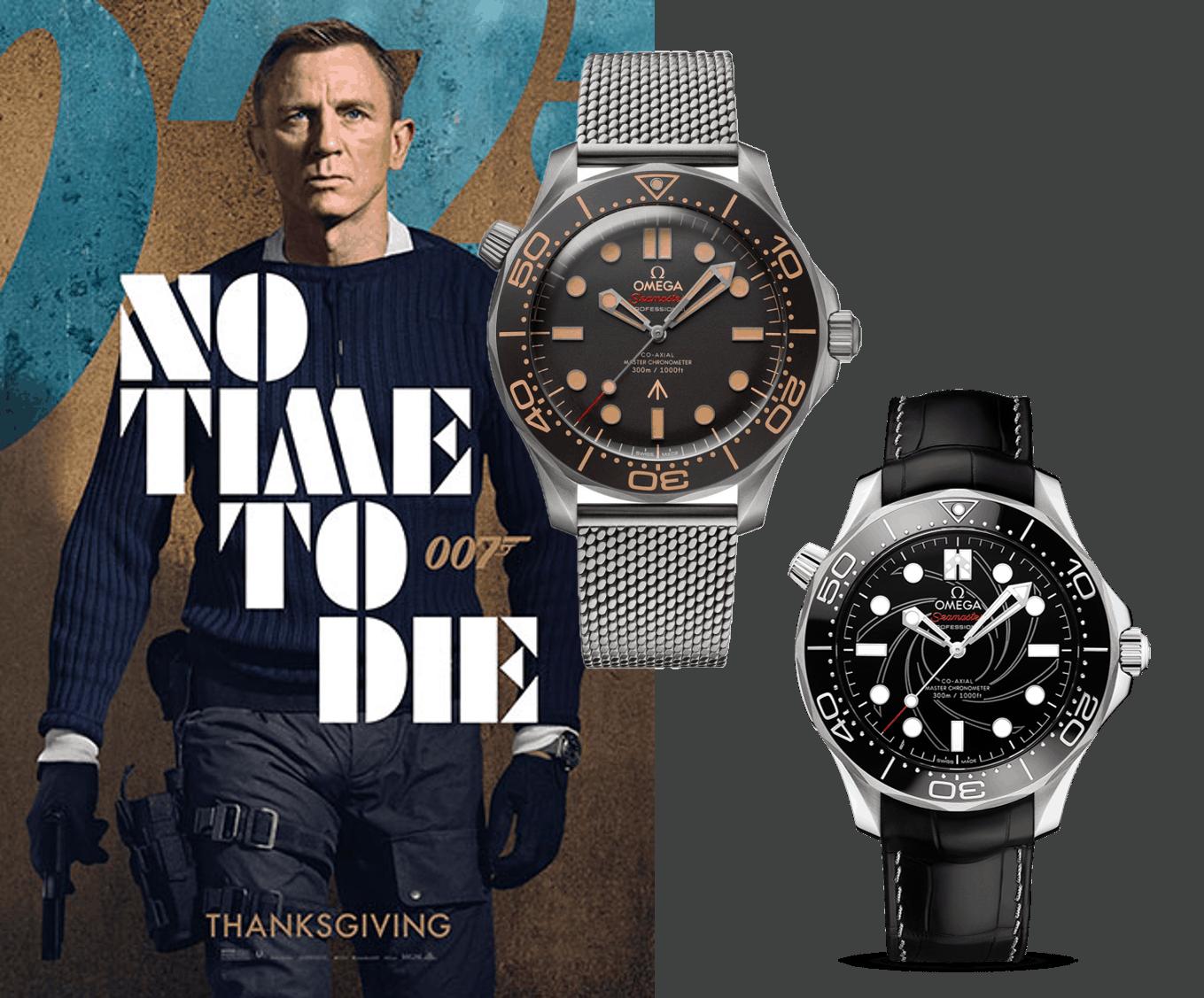 Omega Seamaster Diver 300m 007 James Bond Uhren No Time to die? Dann liegt es an der Omega Seamaster Diver 300M James Bond Uhr!