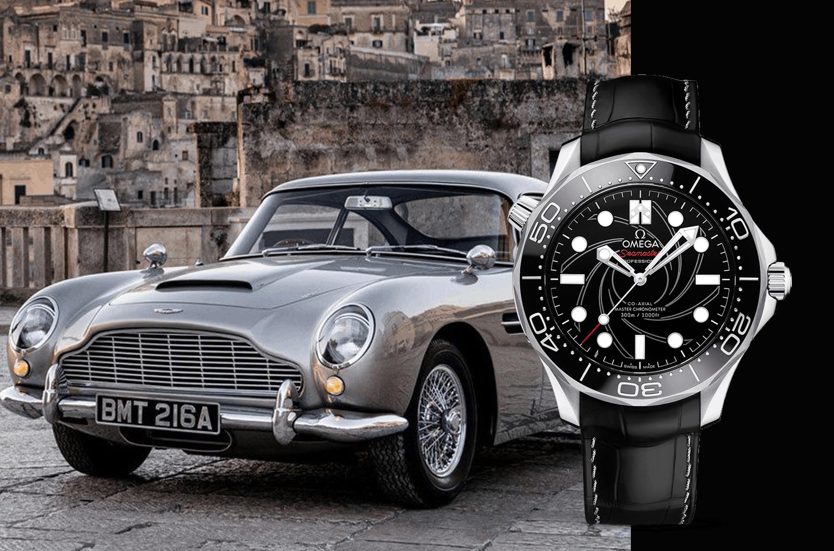 James Bond und die Omega Seamaster Diver 300M Numbered Edition mit Aston Martin
