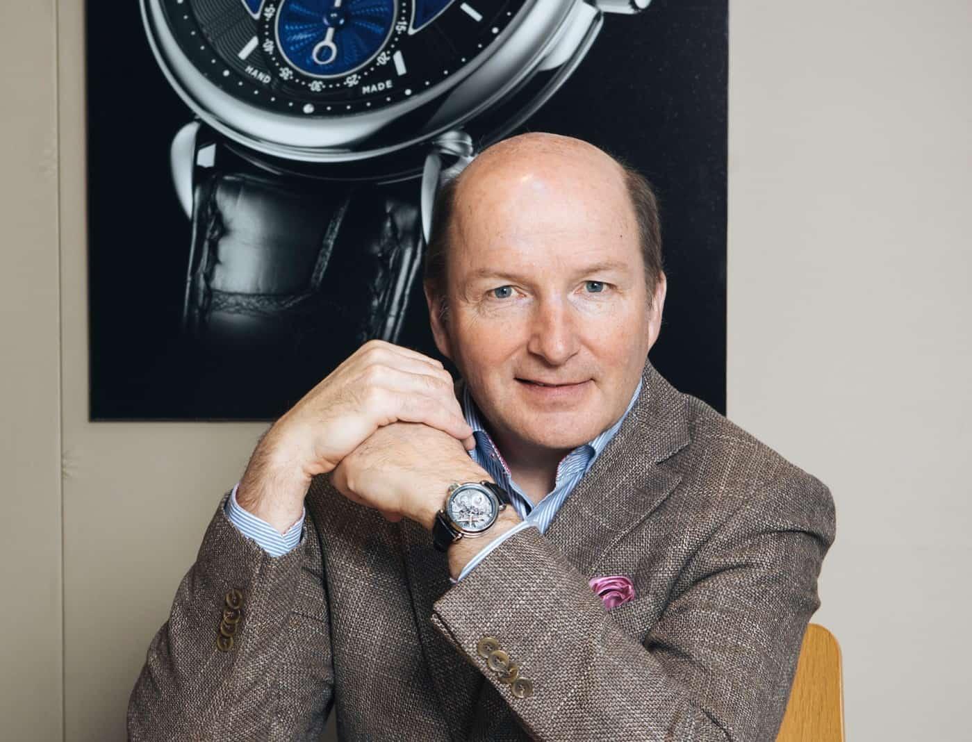 Uhrmacher und Inhaber der Uhrenmanufaktur Kari Voutilainen Bild Messe Basel