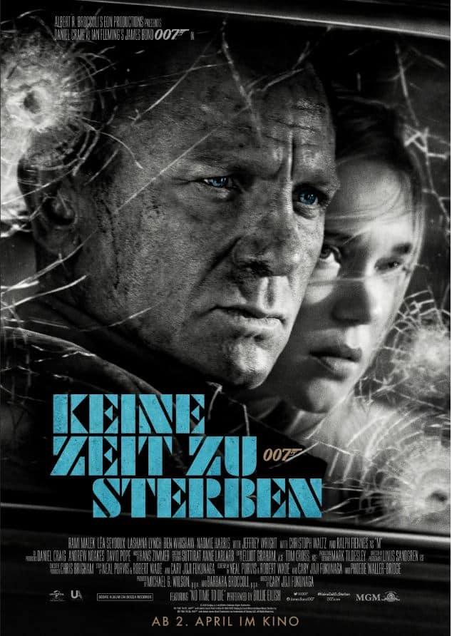 Keine Zeit zu sterben Filmplakat James Bond im Serie Noir Style