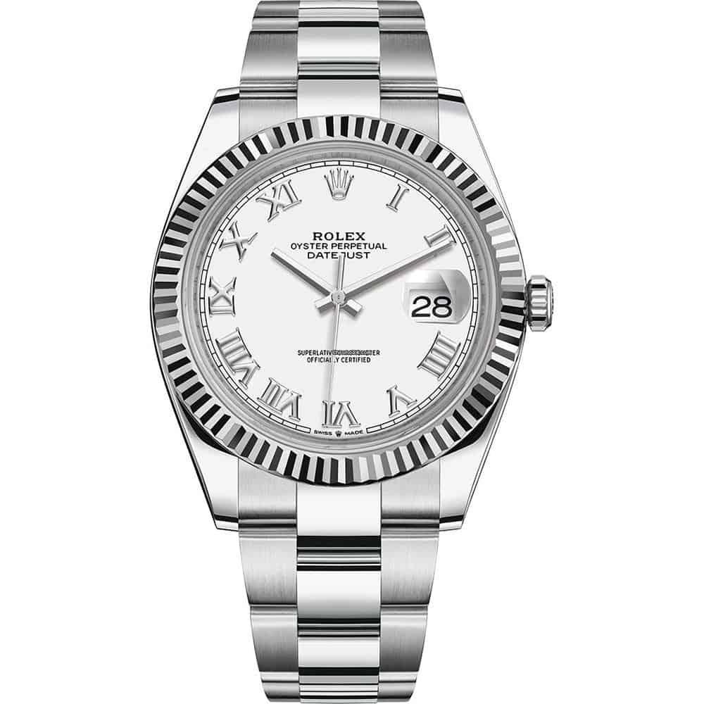 Rolex Wissen - die Rolex Oyster Perpetual Datejust glänzt stets mit goldenen Indexen und Rolex-Logo.