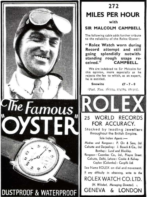 Und wer hat es erfunden? Rolex. Die Marke war bereits früh im Sportsponsoring dabei.