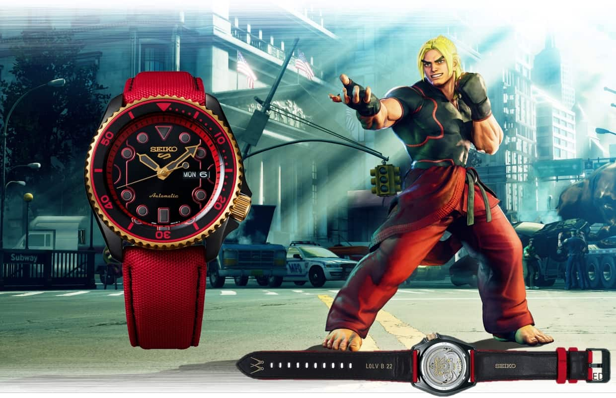 Der Charakter 2 - die Seiko 5 Sports STREET FIGHTER V Limited Edition Ken, Referenz SRPF20