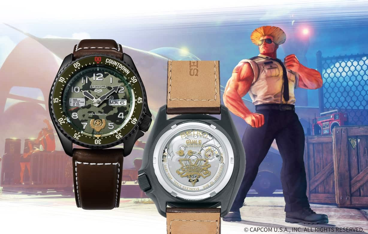 Seiko 5 Sports STREET FIGHTER V Limited Edition Guile, Referenz SRPF21 ist Version 4