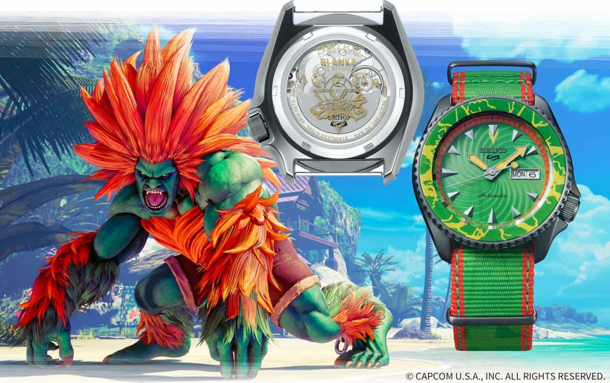 Variante 6 der Seiko 5 Sports STREET FIGHTER V Limited Edition_SRPF23_Blanka - UK