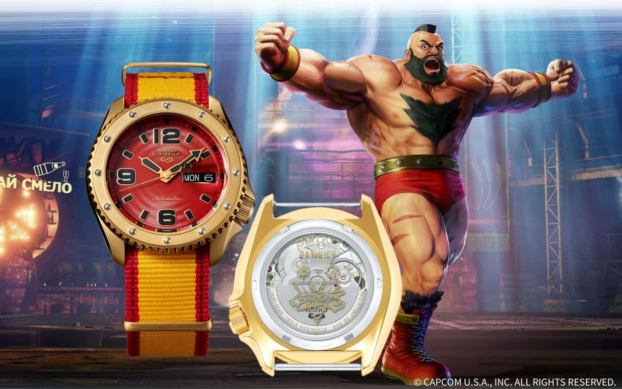 Seiko 5 Sports STREET FIGHTER V Limited Edition Zangief, Referenz SRPF24
