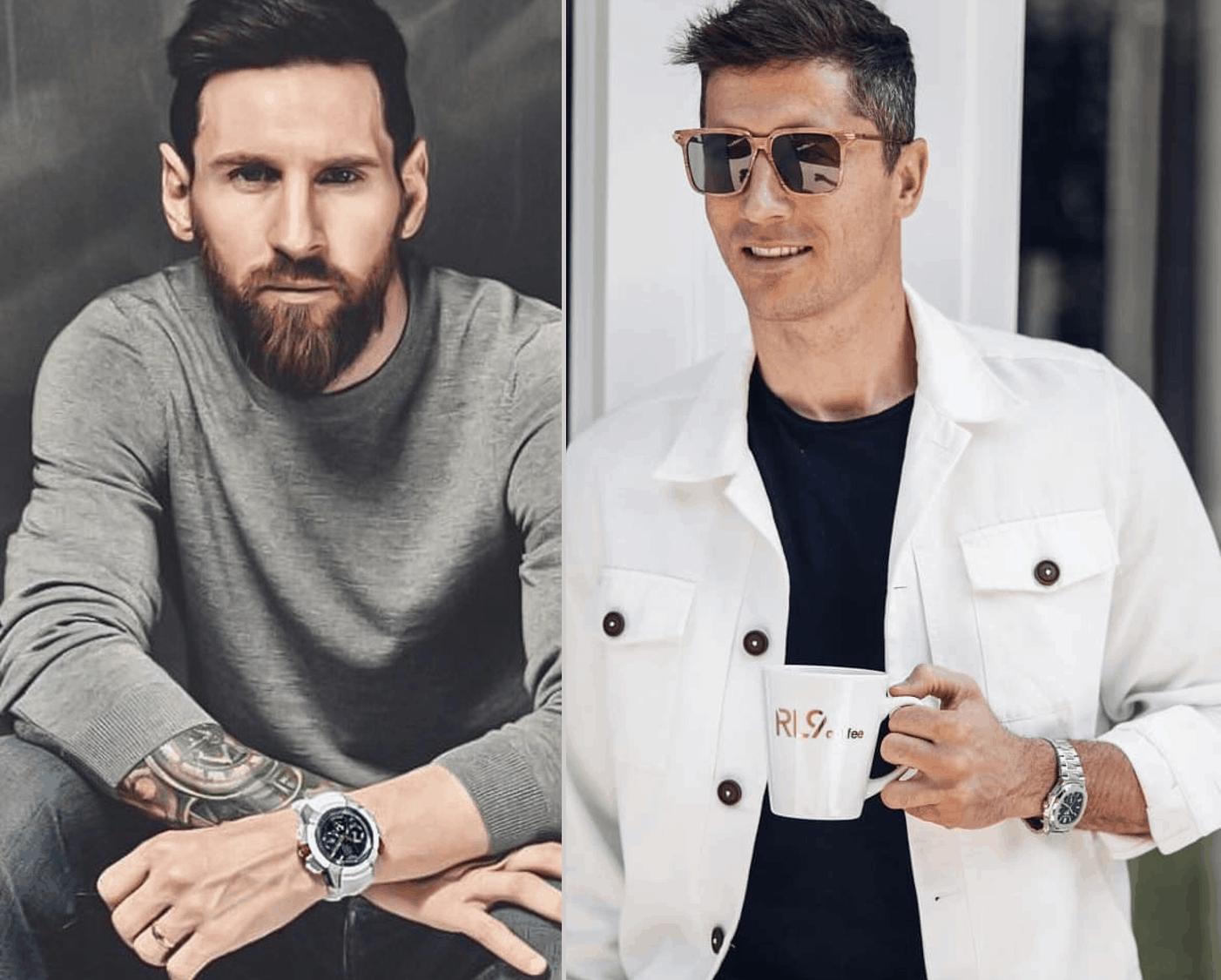 Uhrenvergleich Barcelona Bayern Messi Lewandowski