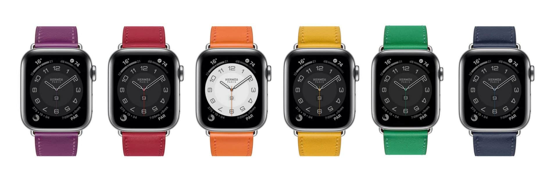 Apple watch hermes series 6 swift calfskin simple tour strap.