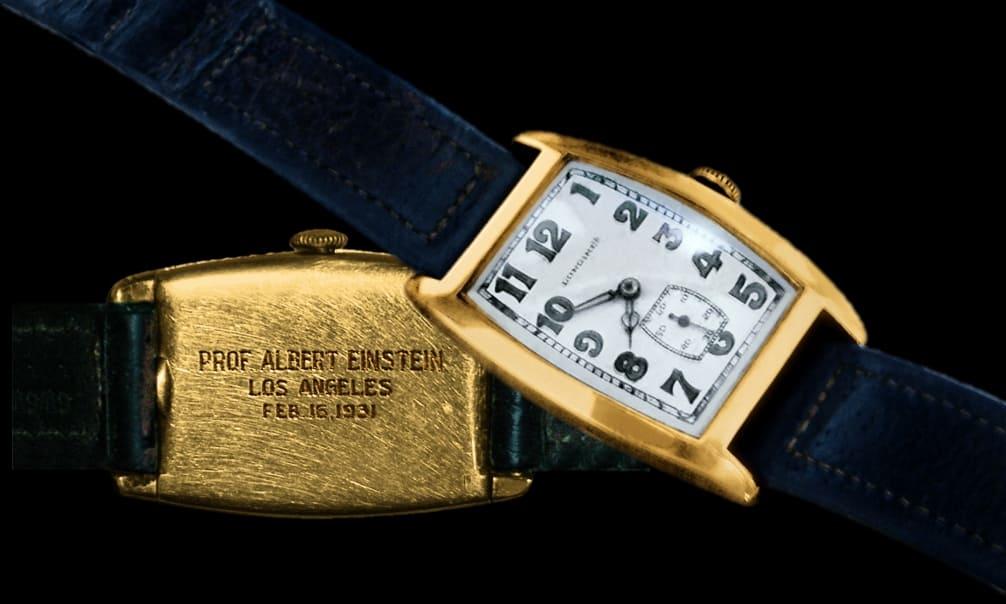 Die original Longines Armbanduhr von Albert Einstein, 1931