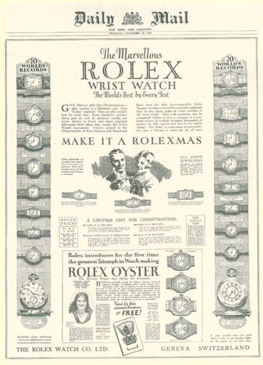 Rolex Inserat Armbanduhren - Daily Mail - E - 1927