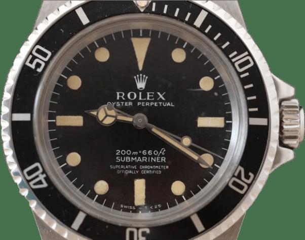Rolex Submariner 5512 mit Kronen Flankenschutz