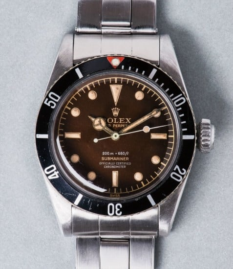 Rolex Submariner 6538 Official Certified Chronometer Phillips 562.000 SFR