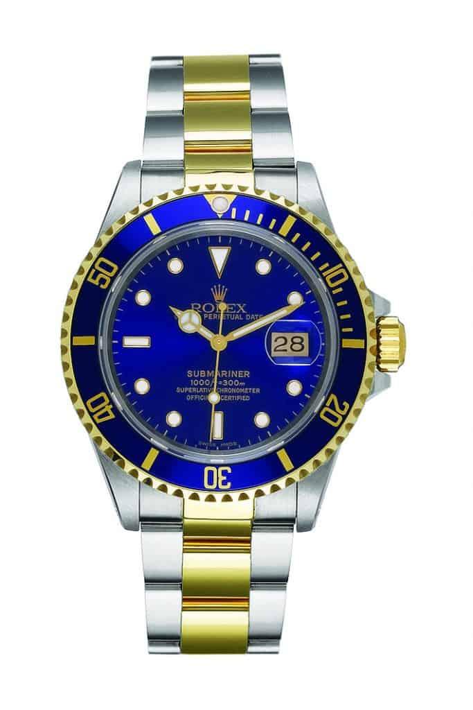 Rolesor Rolex Submariner Date Referenz 16613 von 1988