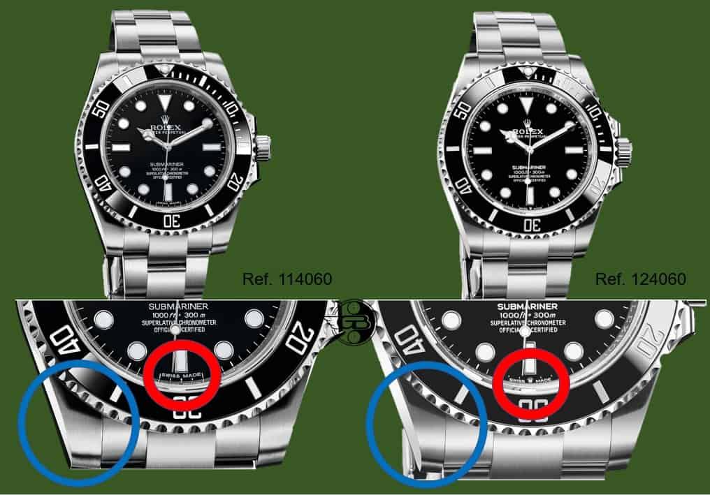 Das sind die Unterschiede Rolex Submariner 124060 versus Vorgängermodell Rolex Submariner 114060