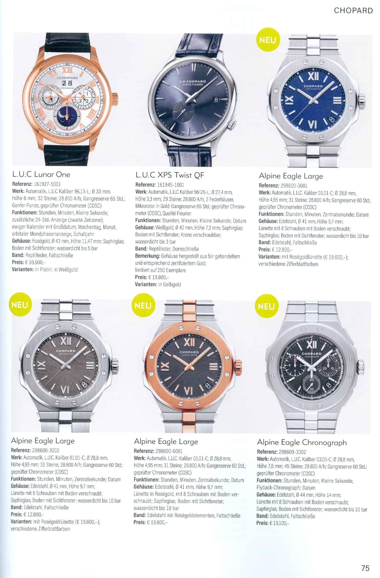 Armbanduhren Katalog Heel Verlag 2020 2021 Chopard
