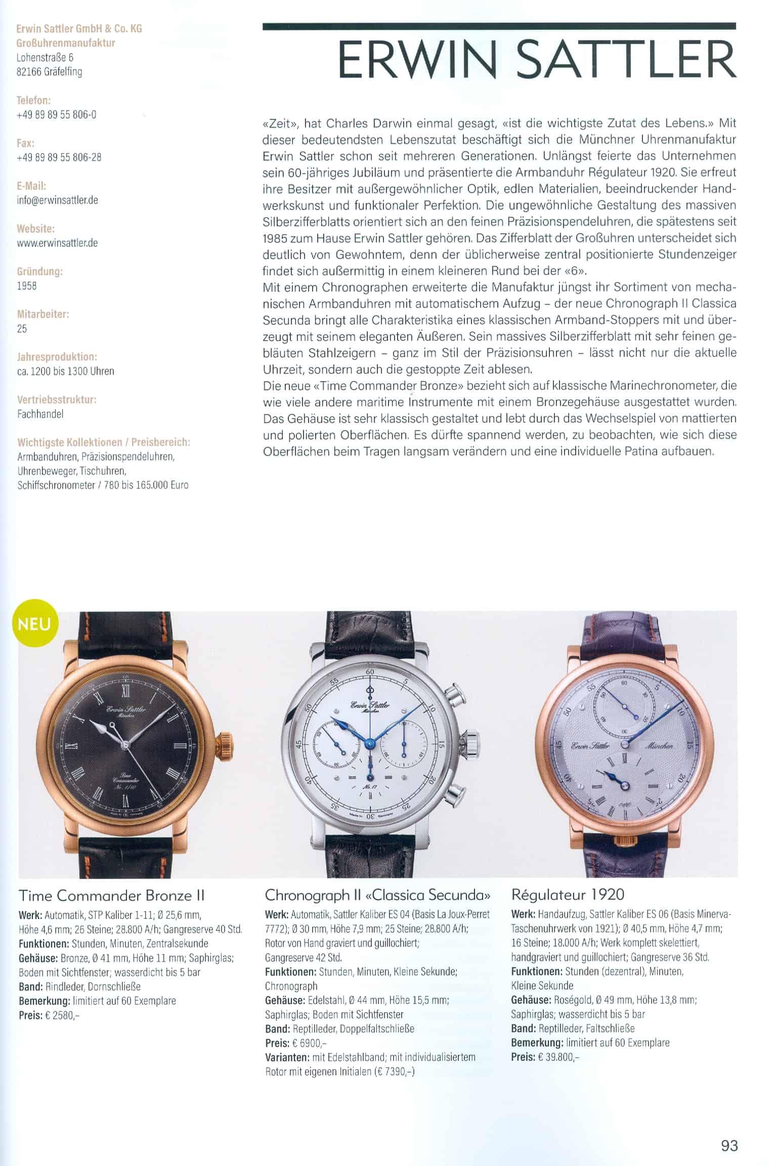 Armbanduhren Katalog Heel Verlag 2020 2021 Erwin Sattler