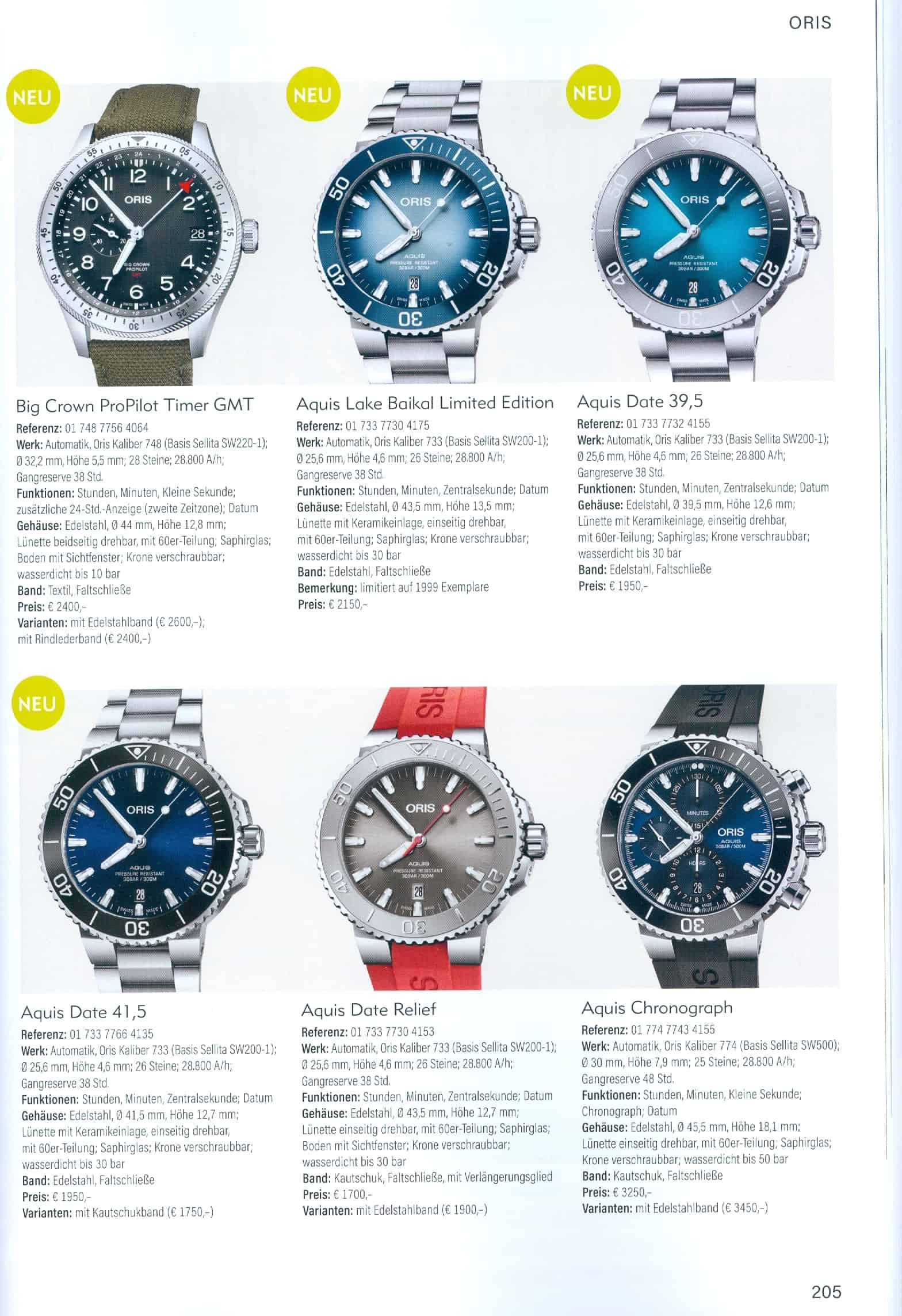 Armbanduhren Katalog Heel Verlag 2020 2021 Oris