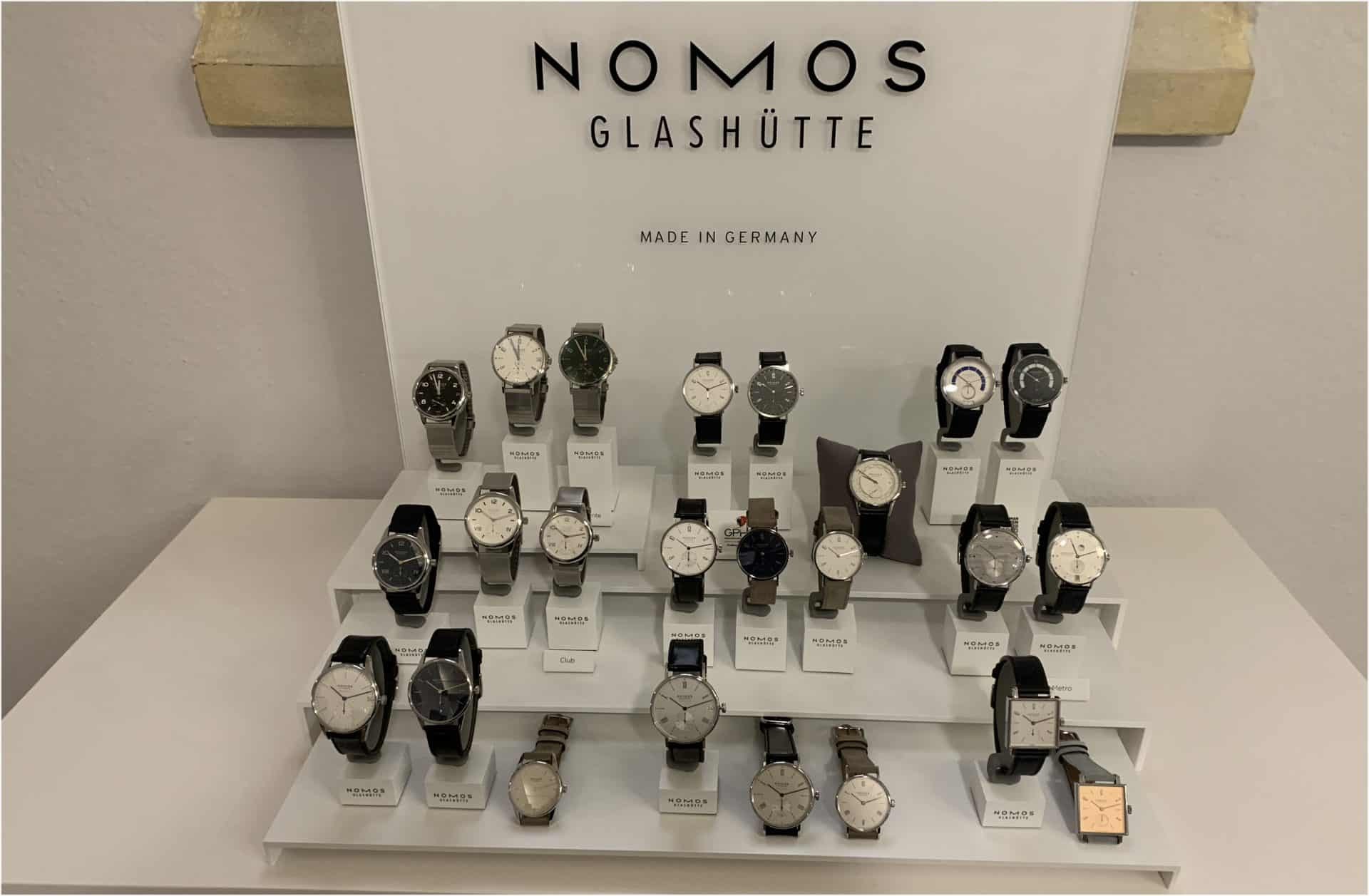 die breit gefächerte, stets jedoch zurückhaltend auftretende Uhrenkollektion von Nomos Glashütte