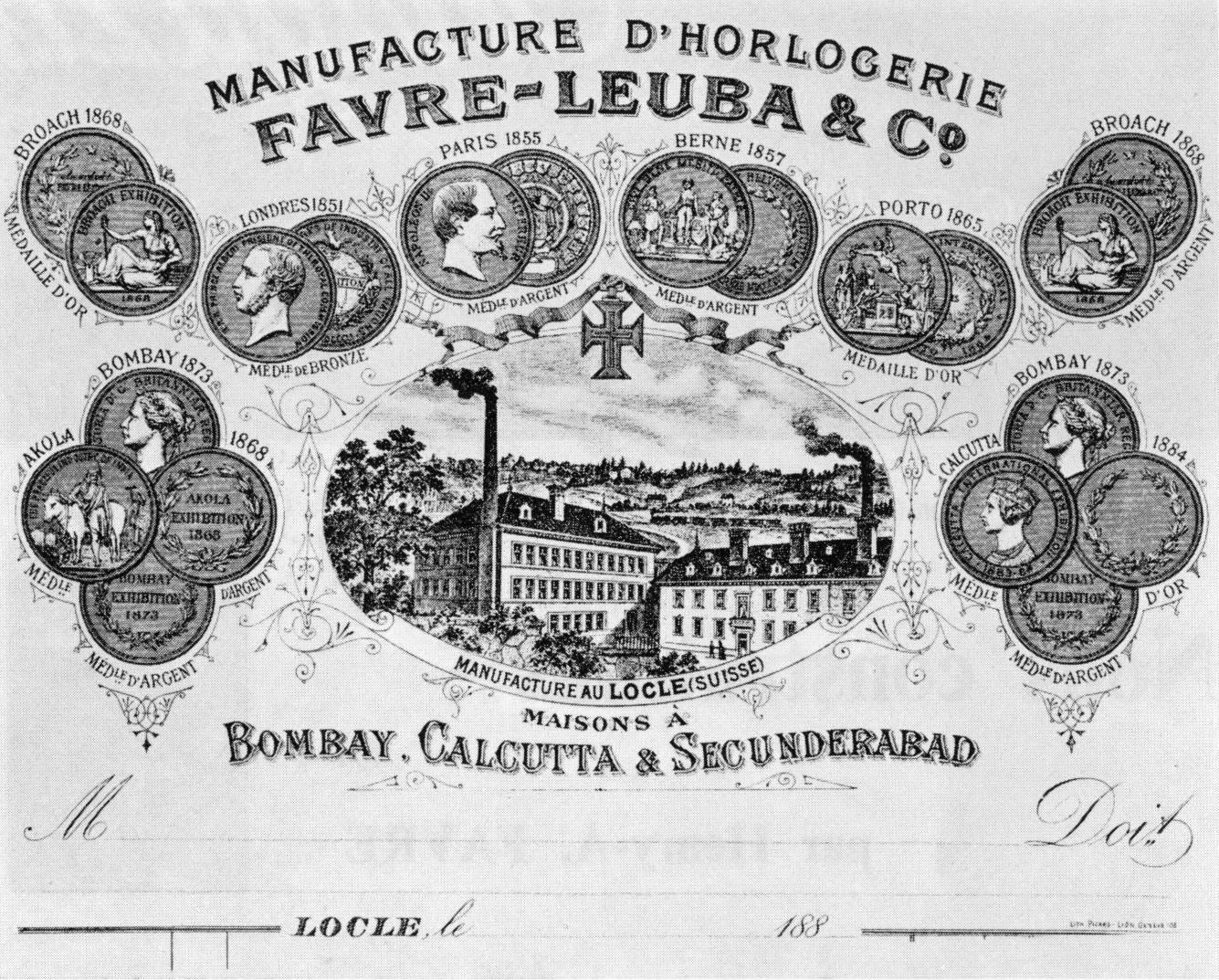 Briefkopf aus der Zeit um 1880