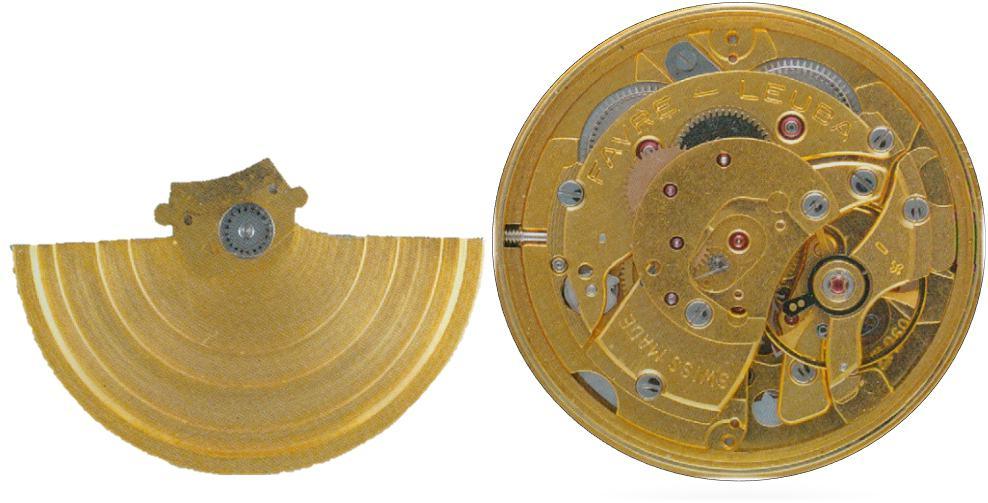 Automatikkaliber FL269 mit abgenommenem Rotor