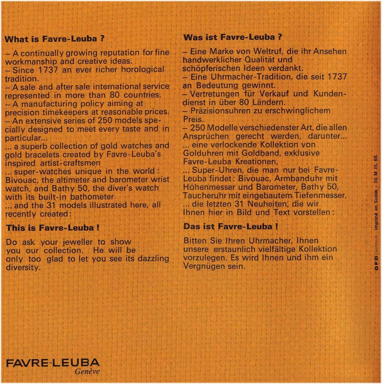 Die Beantwortung der Frage - Wer ist Favre-Leuba?