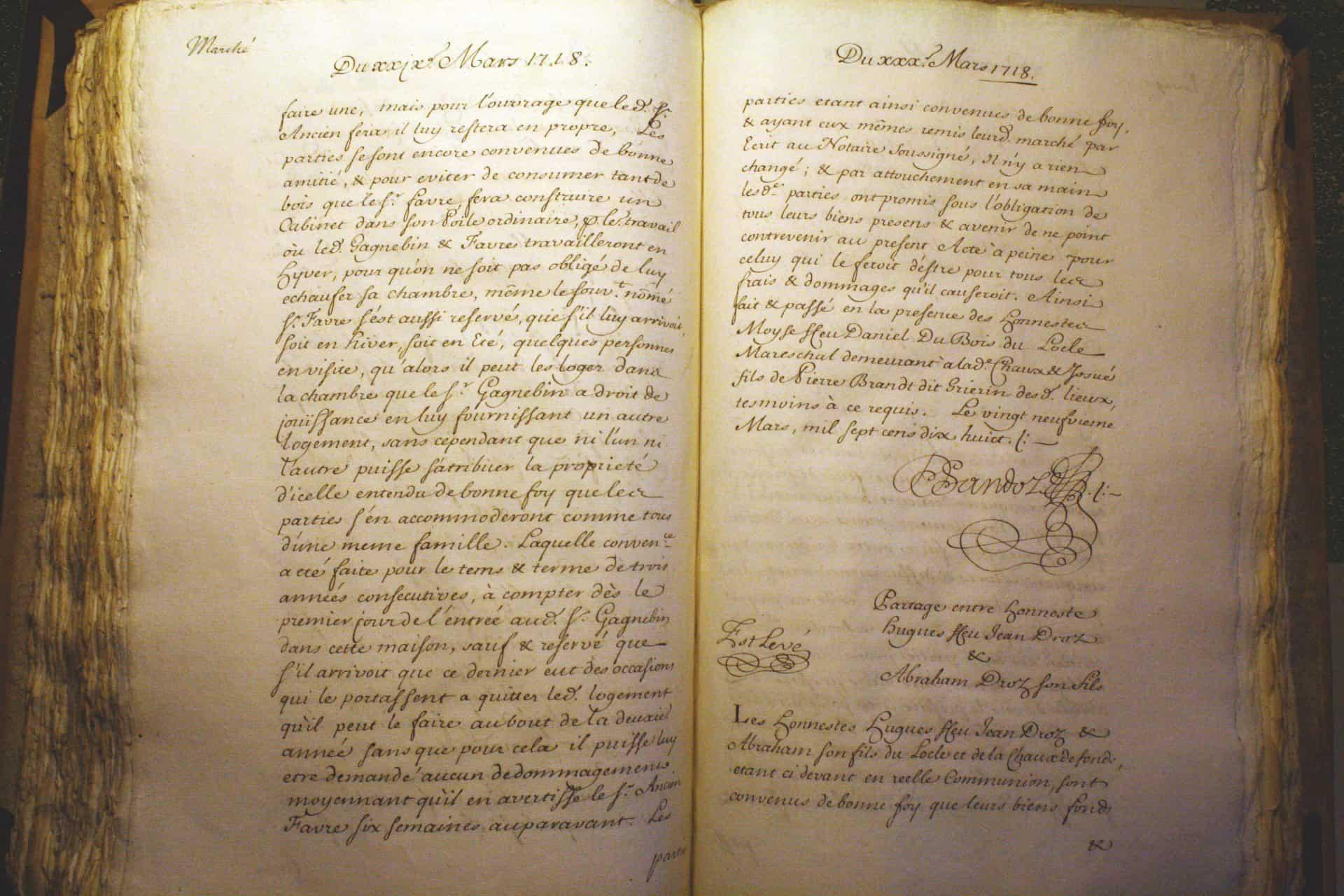 Seiten 3 und 4 des Dokuments zur Gründung von Favre-Leuba