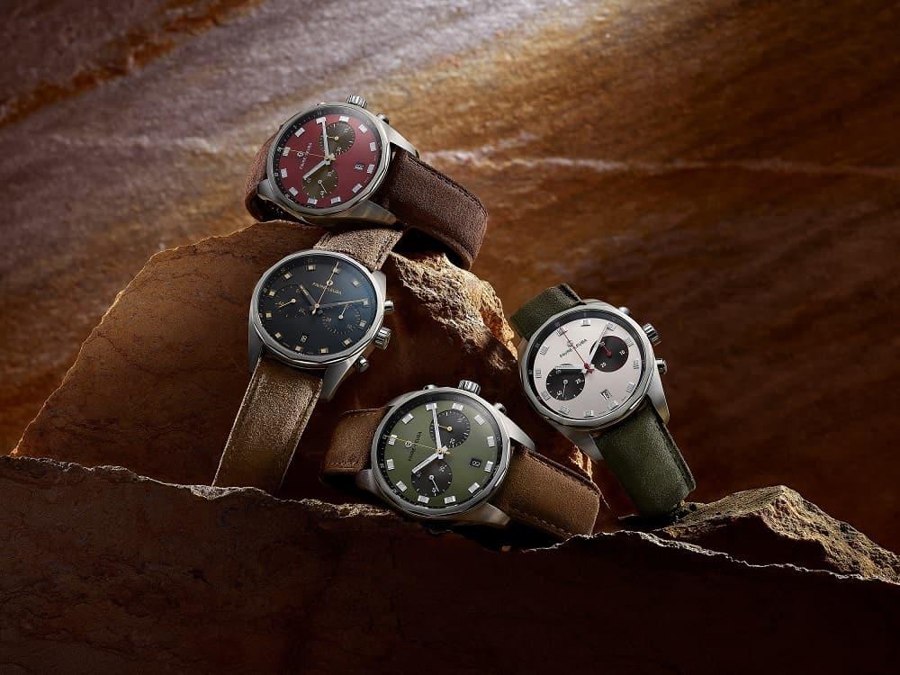 Die vier Modelle der Favre-Leuba Sky Chief Chronograph