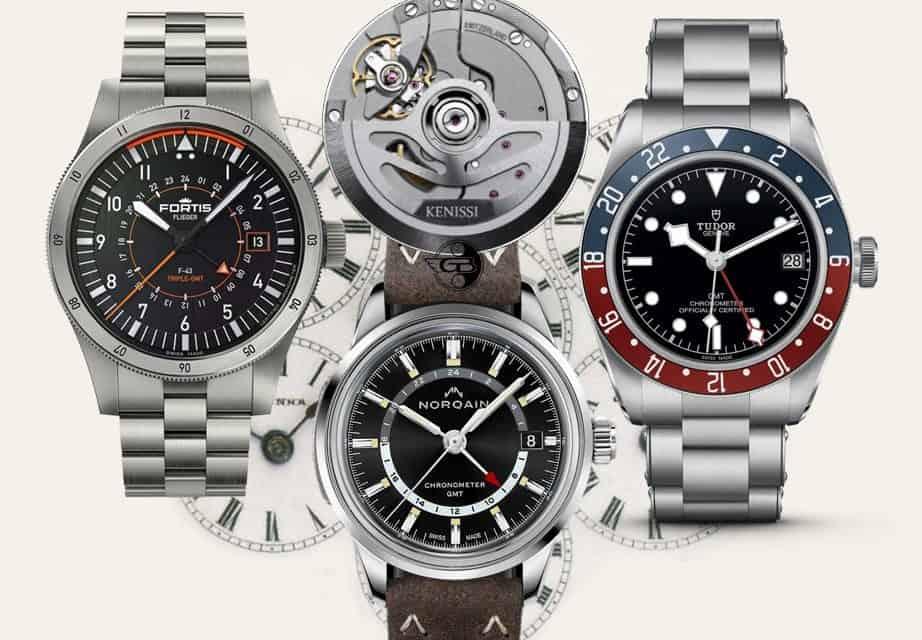 Ein Kenissi GMT-Kaliber für die Tudor Black Bay GMT, Fortis Flieger F-43 Triple GMT und Norqain Freedom 60 GMT