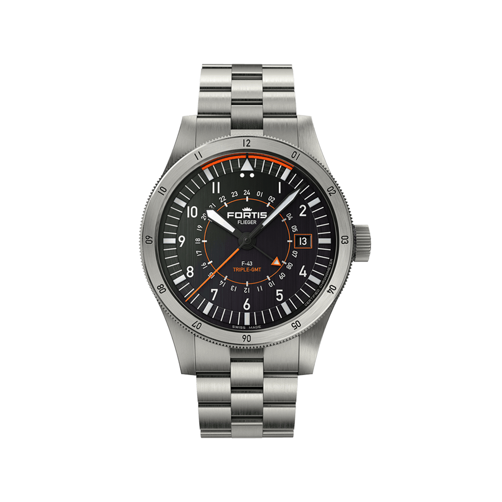 Fortis Flieger F-43 Triple GMT