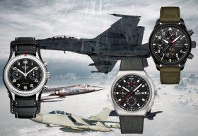 3 Fliegerchronographen:  Hanhart 417 ES, IWC Pilot's Watch Chronograph TOP GUN Edition SFTI und Tutima M2 Coastline Chronograph