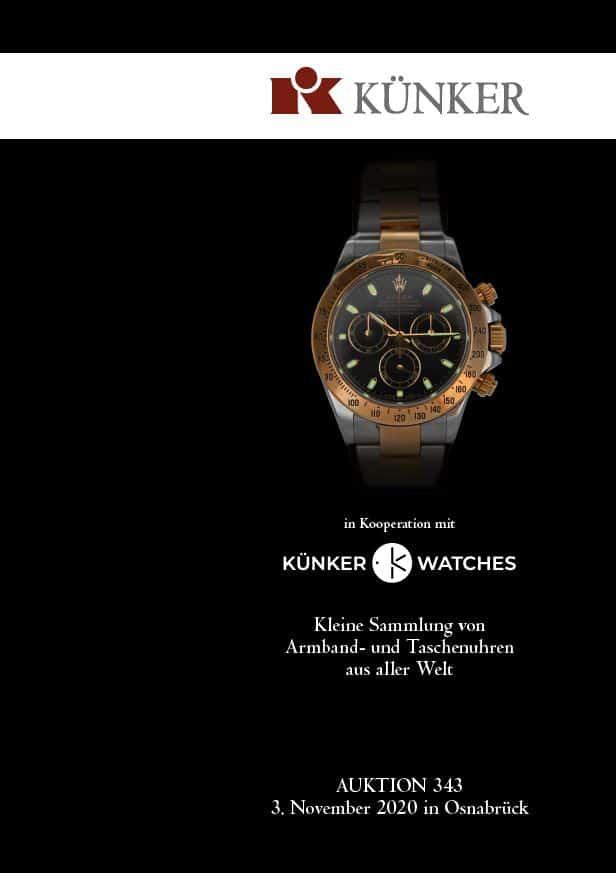 Katalog Künker Watches Auktion 343 am 3 November 2020