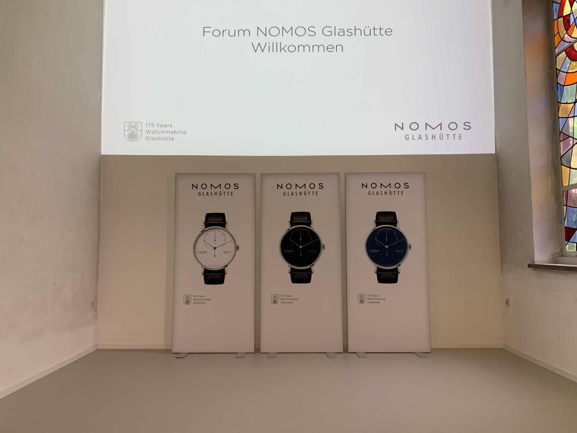 Die Vorstellung der neuen Nomos Glashütte Lamda im neueröffneten Nomos Forum