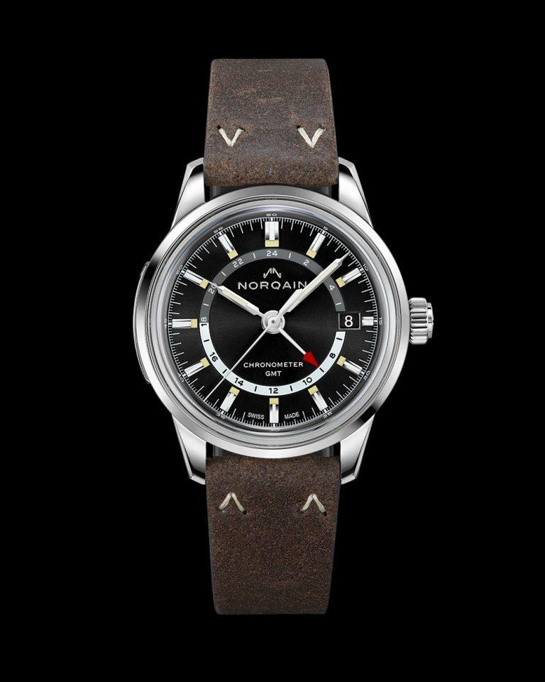 Norqain Freedom 60 GMT Stahl mit Lederband