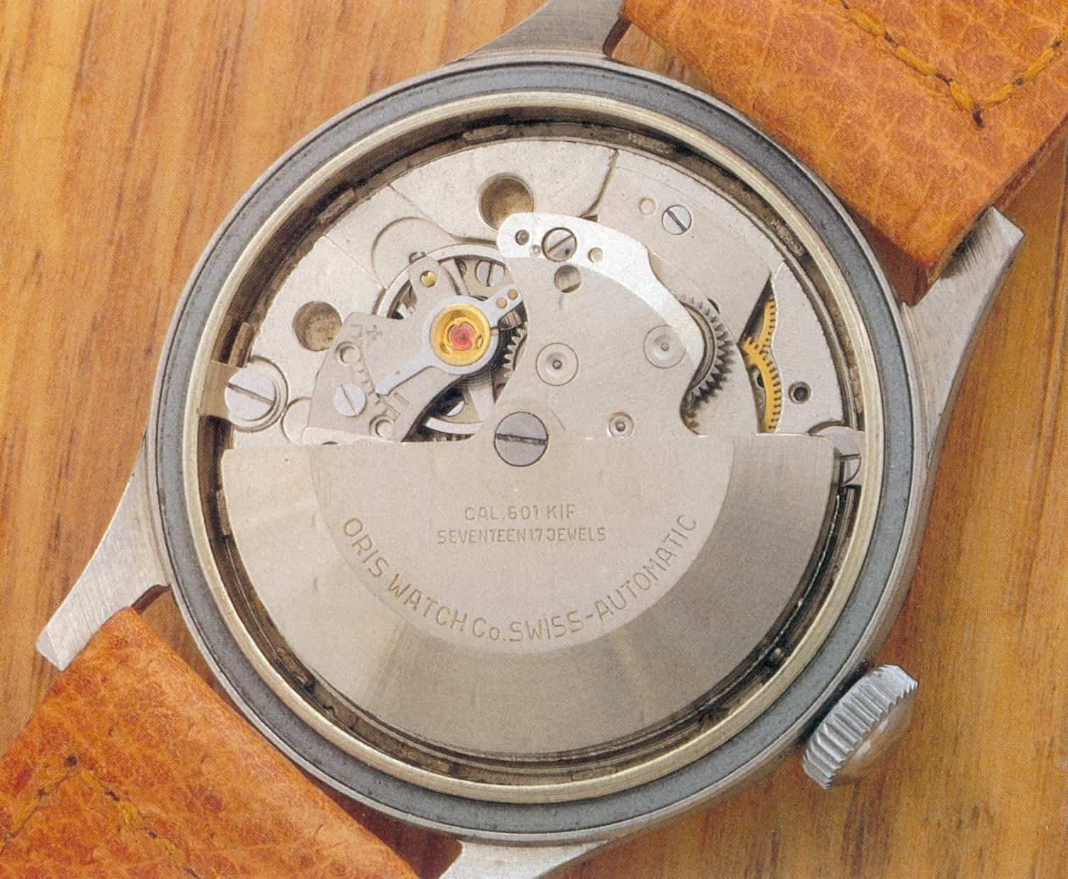 Oris Automatic Stiftanker Gangreserveanzeige 1952-1953 Kaliber 601-605
