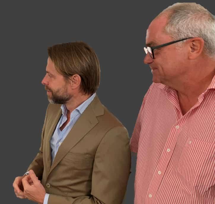 Die beiden Oris Manager: CEO Rolf Studer und COO Beat Fischli