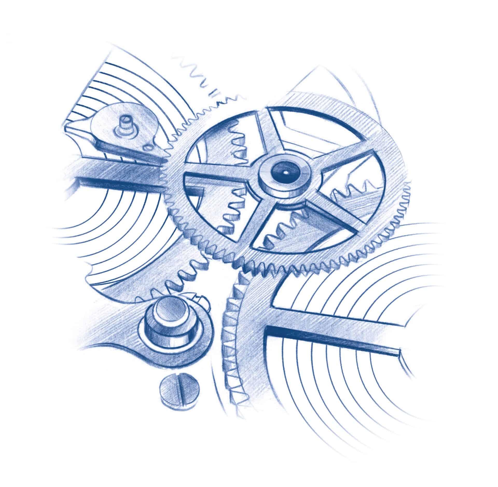 Die Zugfedern im Oris Calibre 400 bestehen aus nichtmagnetischem Bioflex Material
