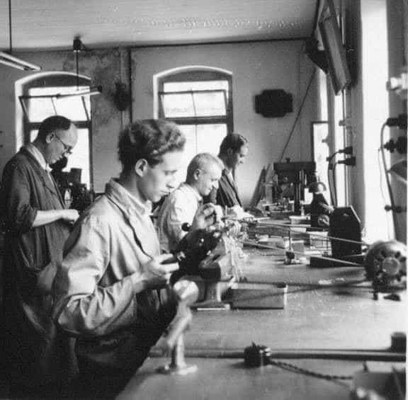 Werkstätte bei Mühle in Glashütte um 1950