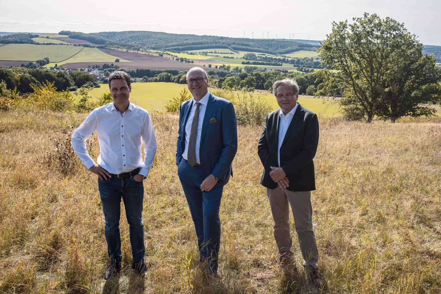 Die Köpfe hinter der Einheitsuhr Thilo Mühle, John van Steen und Manfred Brassler