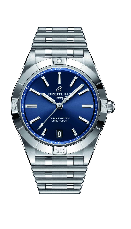 Breitling Chronomat Automatic 36 mm Damenuhr mit blauem Zifferblatt