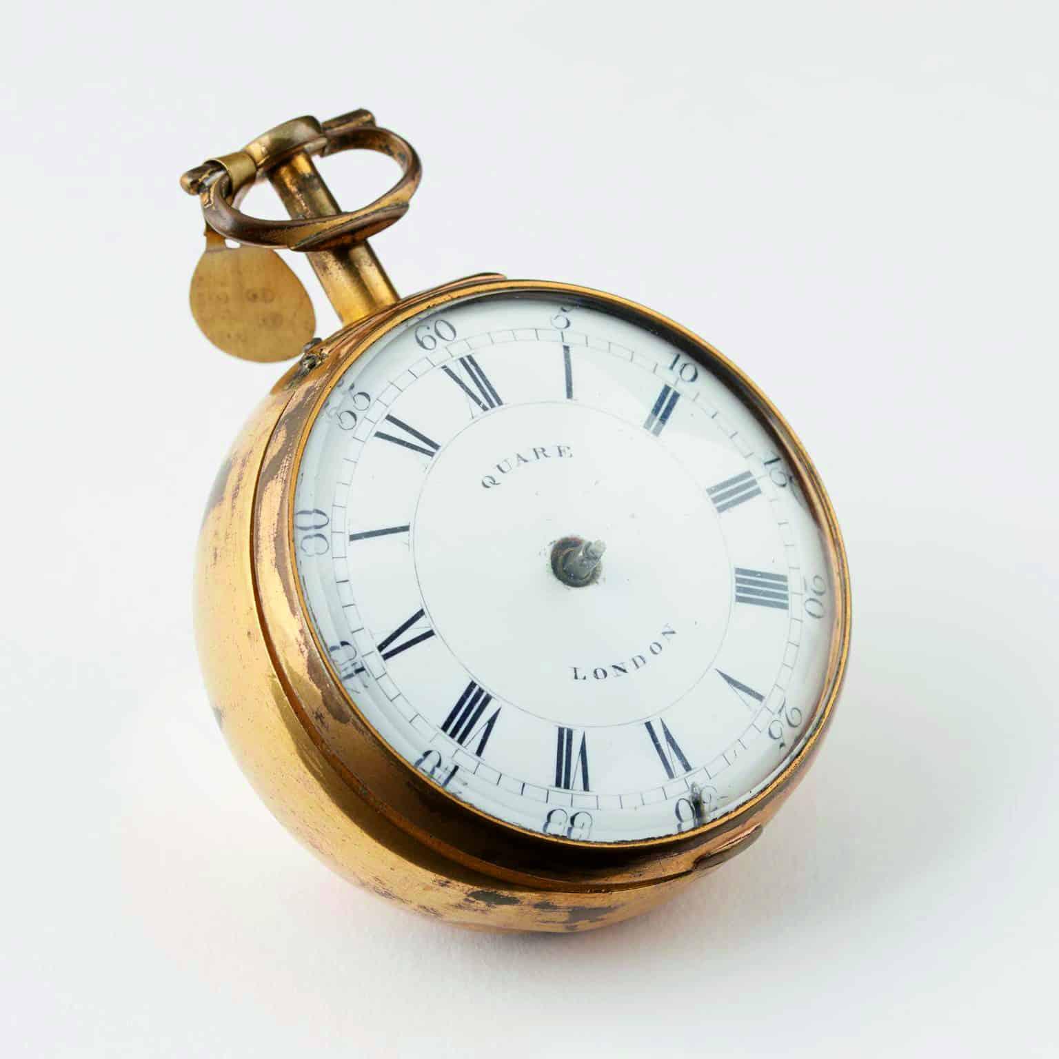Daniel Quare Repetitions-Taschenuhr aus dem Jahre 1710