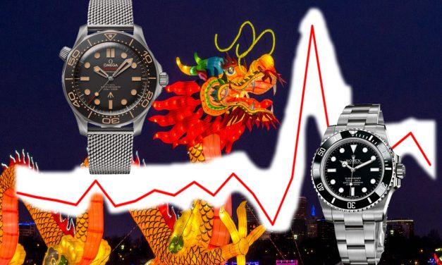 Das Jahr des Drachen für die Schweizer Uhrenindustrie Exporte. China bestimmt die Richtung.