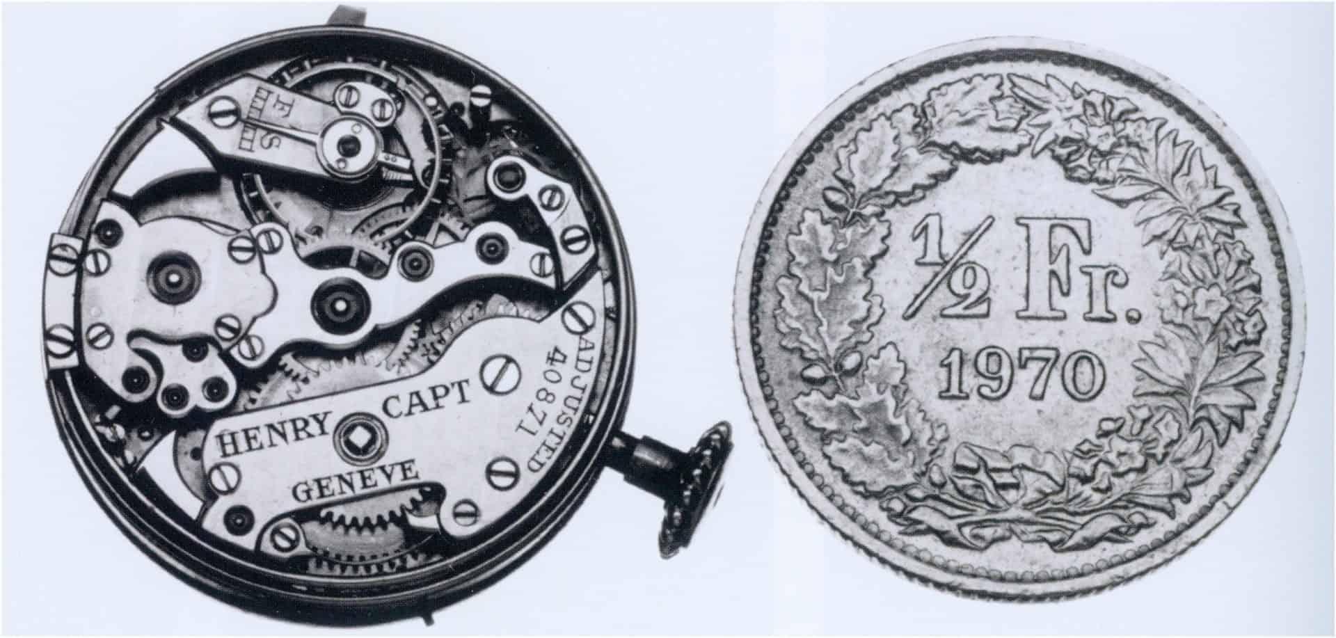 Henry Capt, 8 1/2-liniges Uhrwerk mit Minutenrepetition (Durchmesser 19,17 mm) - frühes 20. Jahrhundert