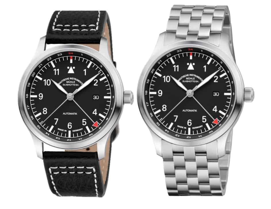 2.150 Euro ist der unverbindliche Preis für die Mühle-Glashütte Terrasport IV GMT mit Lederband.