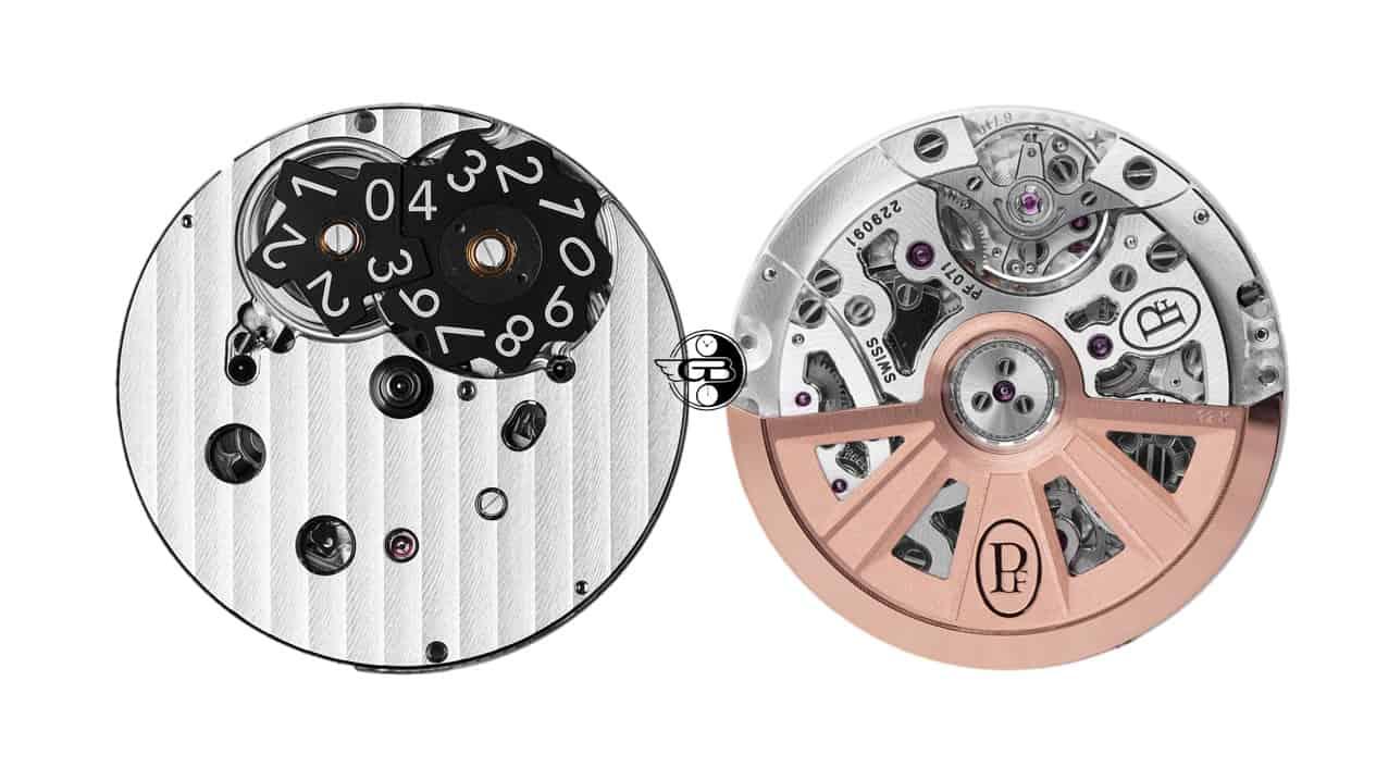 Parmigiani Fleurier Automatikkaliber PF071 mit Schaltrad-Chronograph aber ohne Schleppzeiger