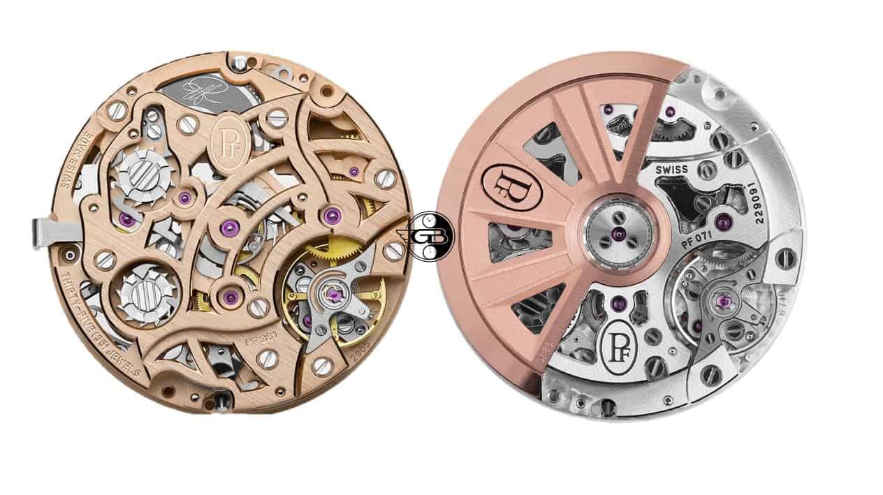 Der Vergleich der Uhrwerke Parmigiani Chronograph Kaliber PF361 und PF071 Automatik