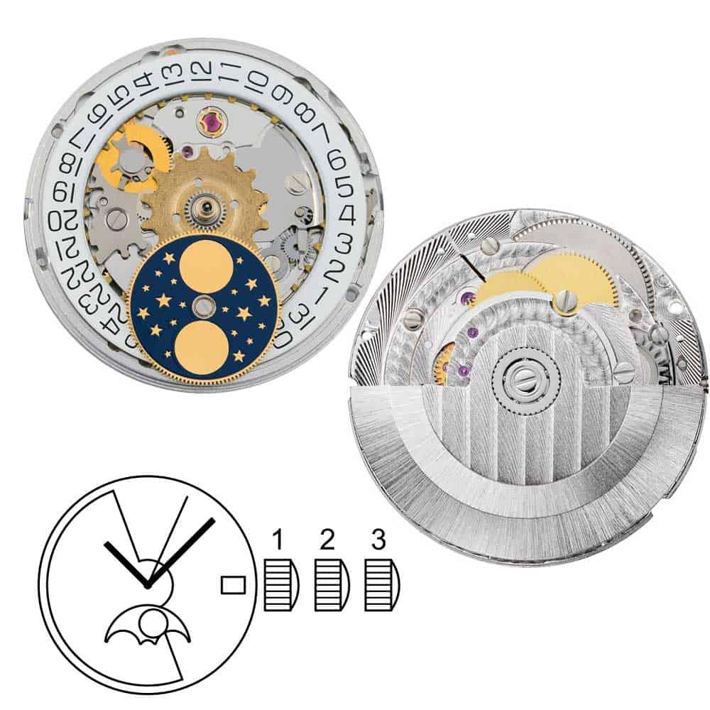 Mondphase Automatikkaliber Sellita SW280-1