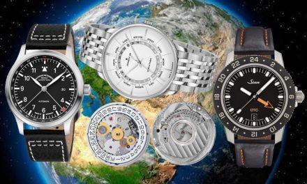 Sellita, das Automatikkaliber SW330-1 sowie drei Armbanduhren von Junghans, Mühle-Glashütte und Spezialuhren Sinn