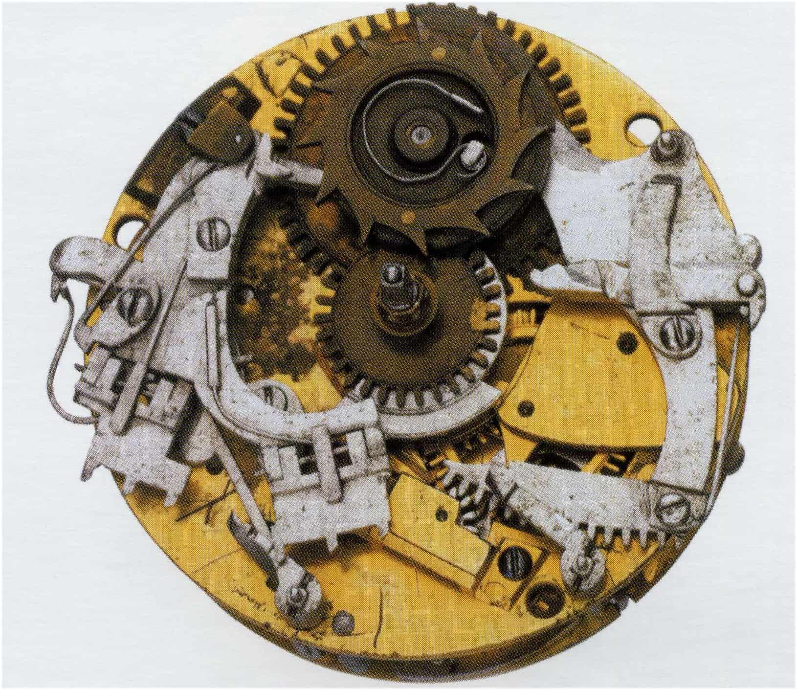Repetition von Thomas Tompion und Edward Barlow - Uhrwerk Nr. 63 Viertelrepetition, spätes 17. Jahrhundert (British Museum)